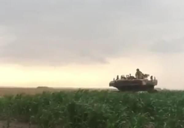 VIDEO | Tancurile americane au pus la pământ culturi agricole în judeţul Ialomiţa!