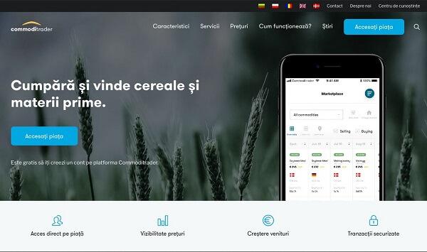 România, prima ţară din Europa de Est în care s-a lansat platforma digitală de comerţ agricol Commoditrader